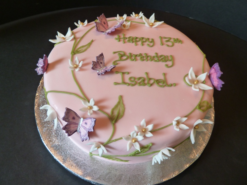 butterflies and flowers cake - Becky s Scilly Cakes